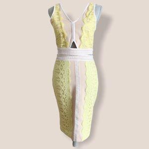 Endless Rose-lace trim 2 piece-sheath skirt w top